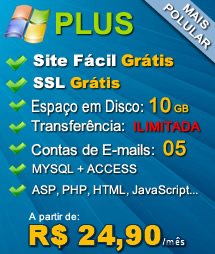 Plano Plus - Hospedagem Windows