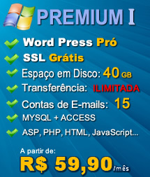 Plano Premium I - Hospedagem Windows