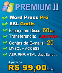 Plano Premium II - Hospedagem Windows